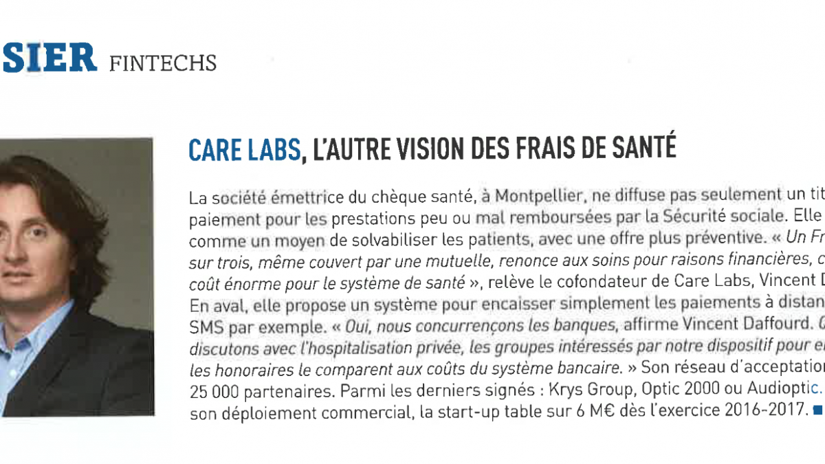 Daffourd Vincent fintech Care Labs